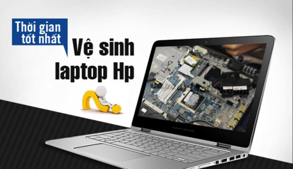 Vệ sinh laptop HP uy tín, chất lượng