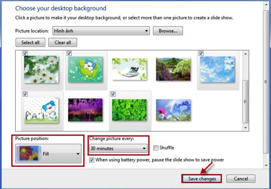 Làm sao để thay đổi màn hình máy tính?