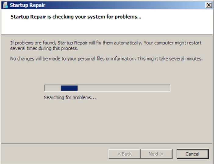 Máy tính lỗi startup repair khi khởi động Windows