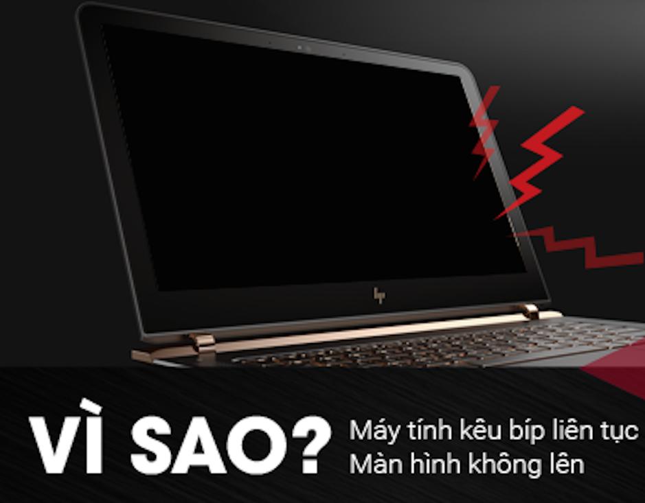 Máy tính bật không lên kêu tít tít